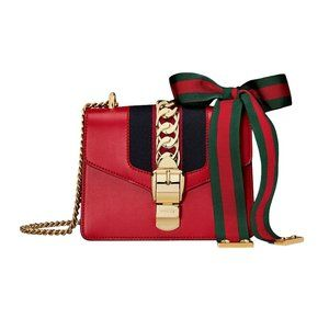 Gucci Sylvie Leather Mini Chain Cross Body Bag